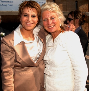 Mossad Jane (right) and Israeli Knesset Speaker Dalia Itzik in Israel